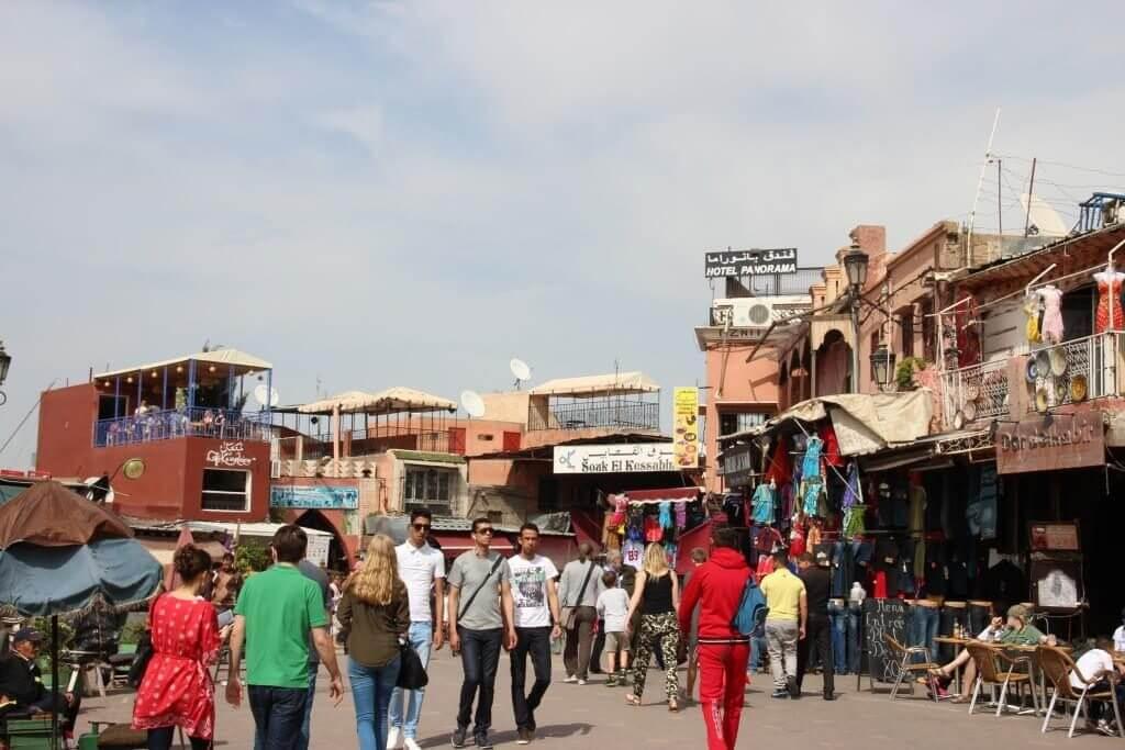 Marrakesch Markt - Djemaa El Fna: Eingang Souks