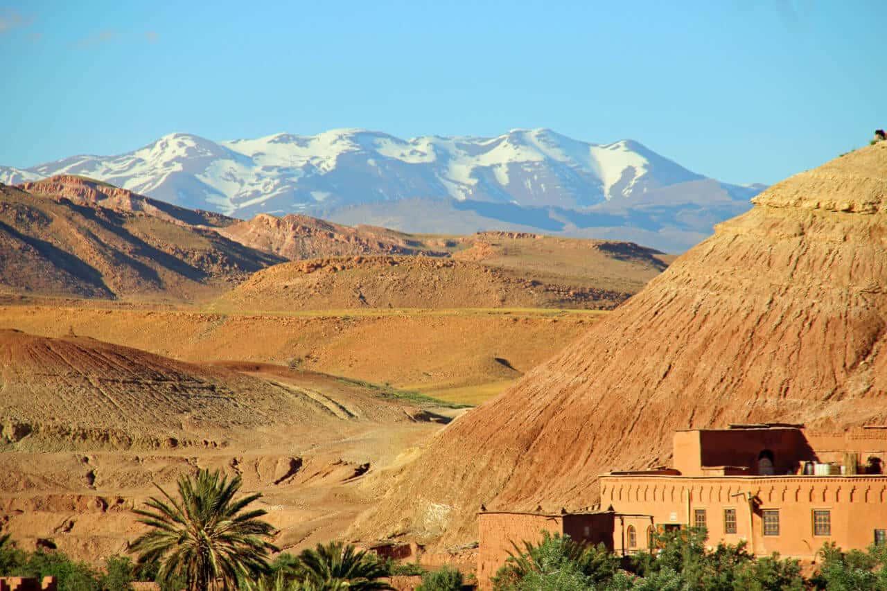 Blick auf das Atlas Gebirge von Aït-Ben-Haddou