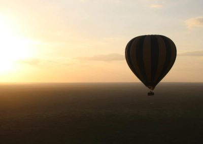 Sonnenaufgang im Ballon