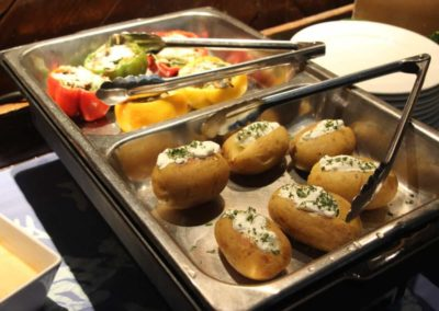 Quarkkartoffeln und gefüllte Paprika