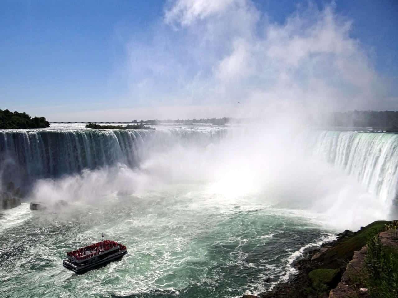 Wasserfall mit Himmel