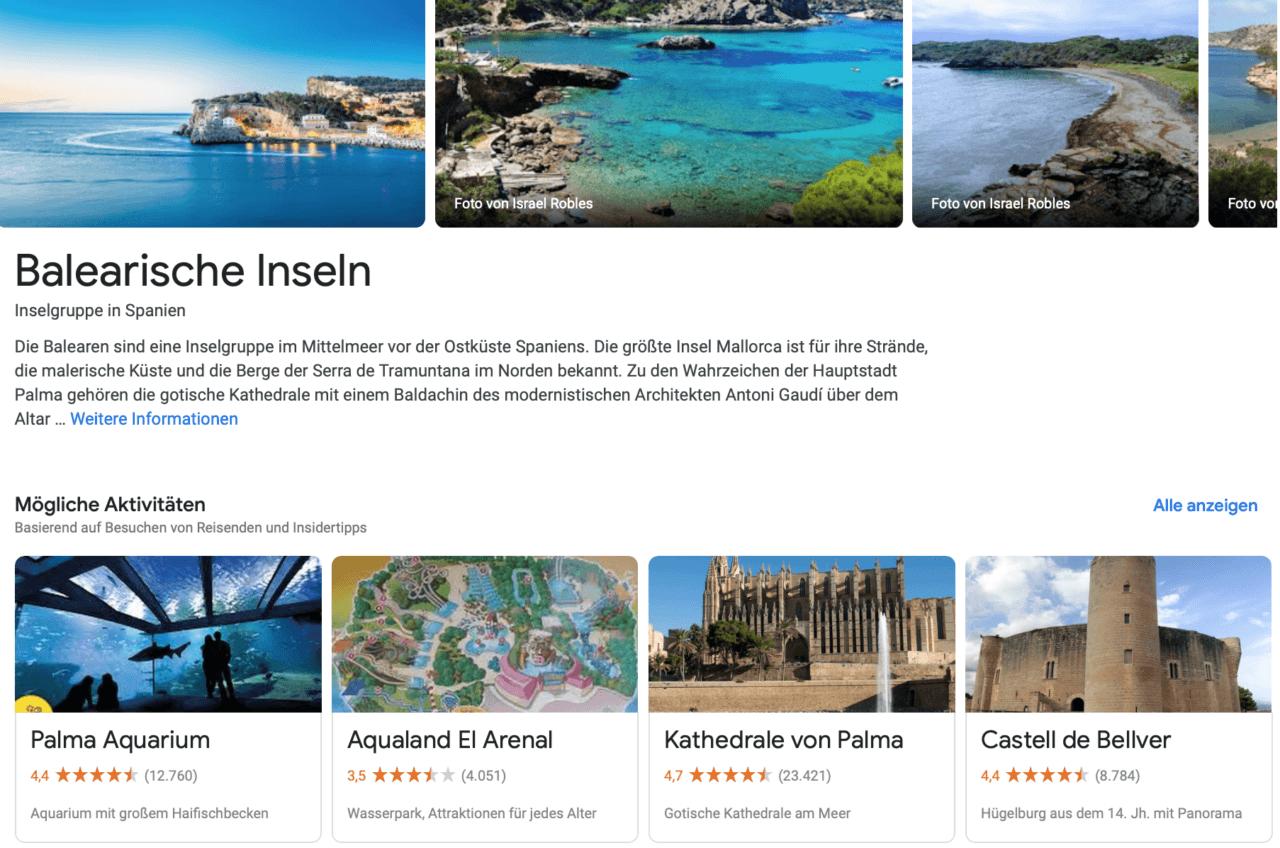 Google Flüge - Balearen