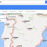 Screenshot: Google Flüge Suche - Flüge nach Spanien