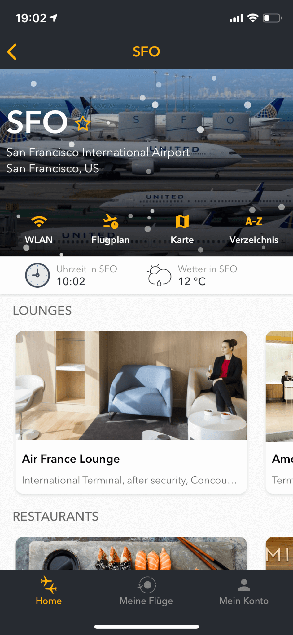 Screenshot der FLIO App