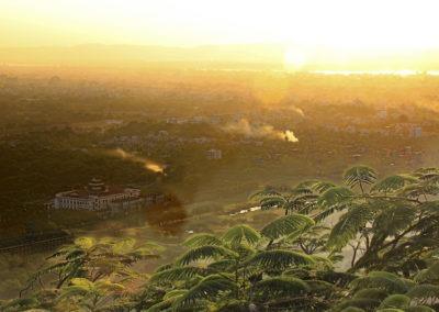 Der Blick vom Mandalay Hill zum Sonnenuntergang