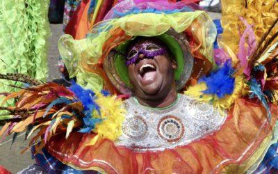Feiern auf dem Karneval in Barranquilla (Kolumbien)